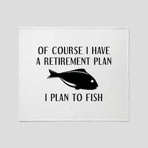 Retirement Plan Fishing Stadium Blanket