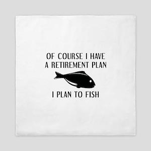 Retirement Plan Fishing Queen Duvet