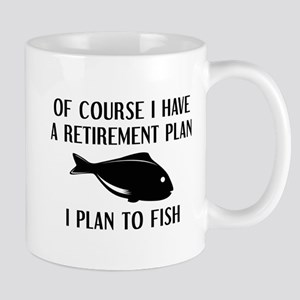 Retirement Plan Fishing Mug