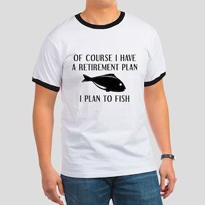 Retirement Plan Fishing Ringer T