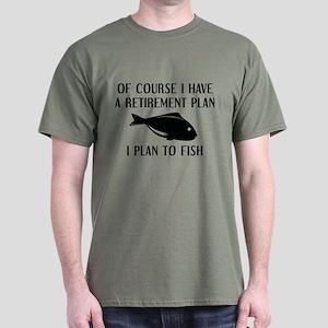Retirement Plan Fishing Dark T-Shirt