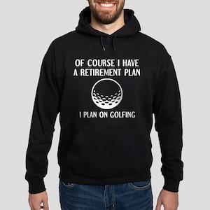 Retirement Plan Golfing Hoodie (dark)