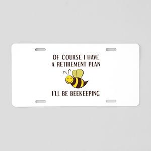 Retirement Plan Beekeeping Aluminum License Plate