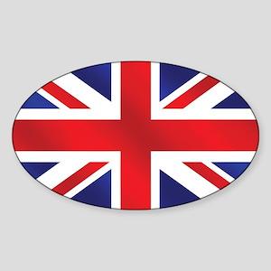 Union Jack UK Flag Sticker (Oval)