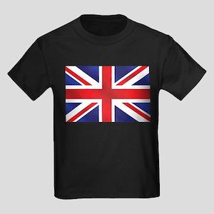 Union Jack UK Flag Kids Dark T-Shirt