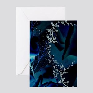Beautiful roses in blue colors Greeting Cards