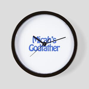Micah's Godfather Wall Clock