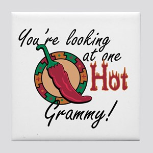 You're Looking at One Hot Grammy! Tile Coaster