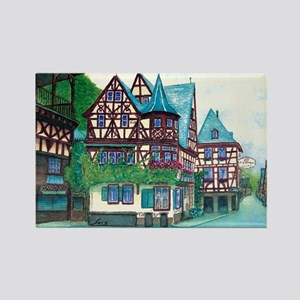 Crooked little house Rectangle Magnet