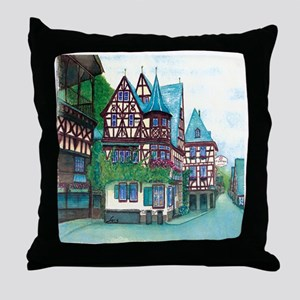 Crooked little house Throw Pillow