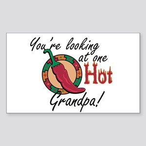 You're Looking at One Hot Grandpa! Sticker (Rectan