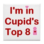 Cupids Top 8 Tile Coaster