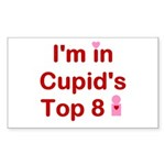 Cupids Top 8 Rectangle Sticker