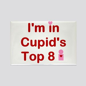 Cupids Top 8 Rectangle Magnet