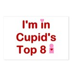 Cupids Top 8 Postcards (Package of 8)