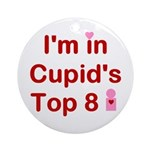Cupids Top 8 Ornament (Round)