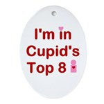 Cupids Top 8 Oval Ornament