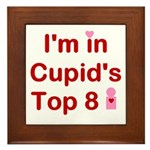 Cupids Top 8 Framed Tile