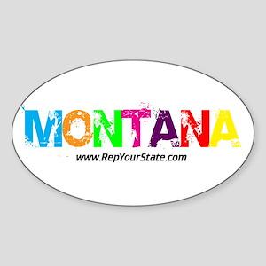 Colorful Montana Oval Sticker