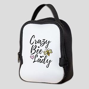 Crazy Bee Lady Neoprene Lunch Bag
