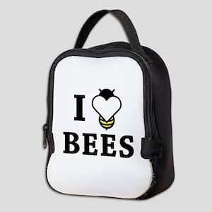I Love Bees Neoprene Lunch Bag
