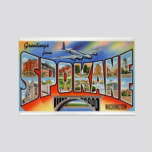 Spokane Washington Greetings Rectangle Magnet