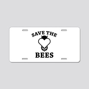Save The Bees Aluminum License Plate