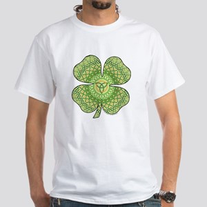 Celtic Shamrock White T-Shirt