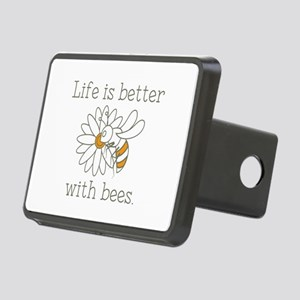 Life Is Better With Bees Rectangular Hitch Cover
