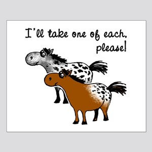 Appaloosa, one of each. Small Poster