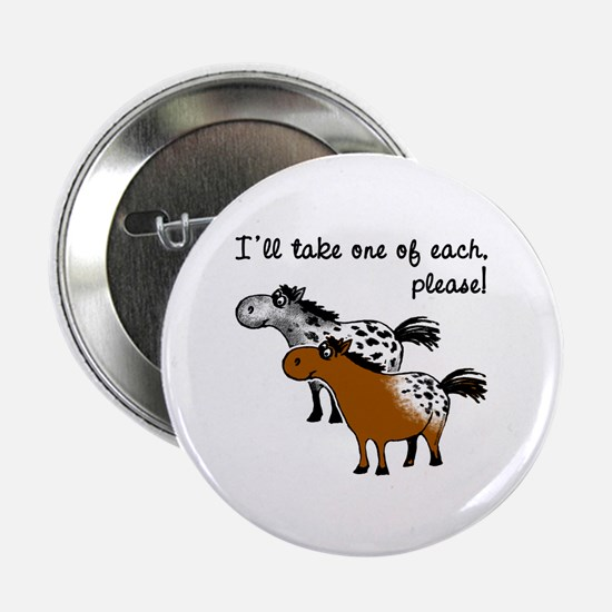 "Appaloosa, one of each. 2.25"" Button"