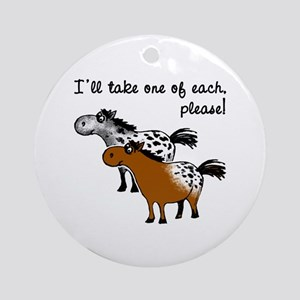 Appaloosa, one of each. Ornament (Round)