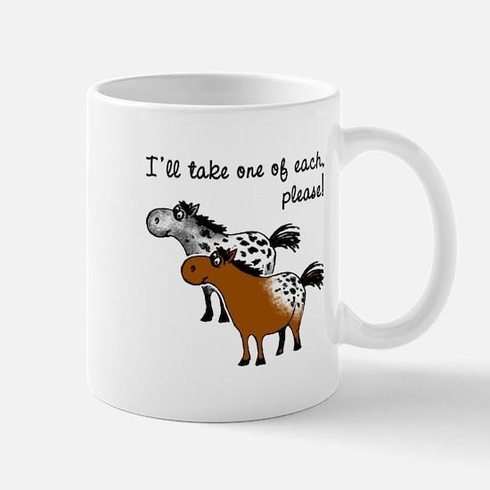 Appaloosa, one of each. Mug