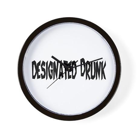 Designated Drunk Wall Clock