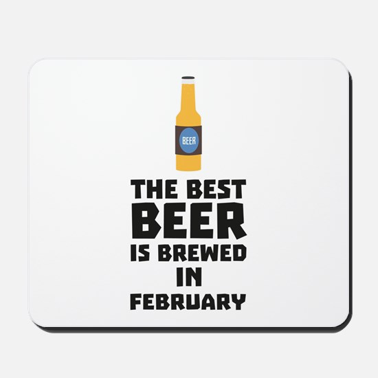 Best Beer is brewed in February C4i8g Mousepad