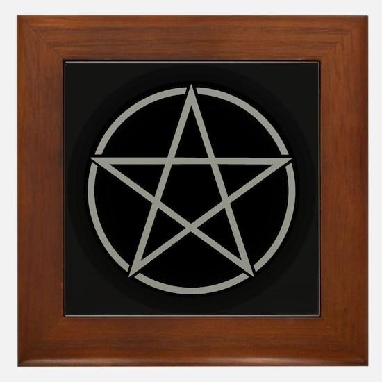 Cute Pagan Framed Tile