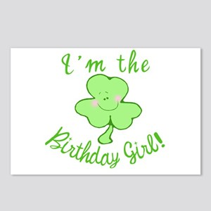 Birthday Girl with Shamrock Postcards (Package of