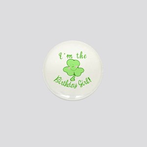 Birthday Girl with Shamrock Mini Button (10 pack)
