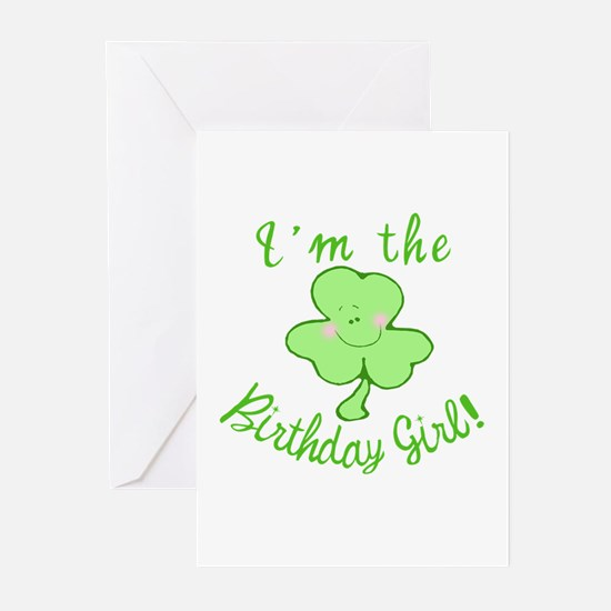 Birthday Girl with Shamrock Greeting Cards (Pk of