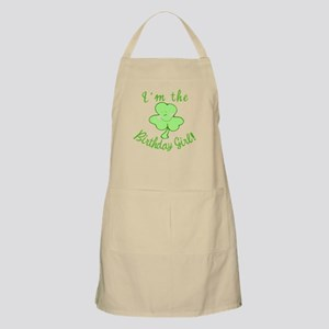 Birthday Girl with Shamrock Apron