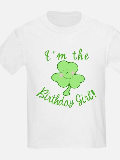 Birthday Girl with Shamrock T-Shirt