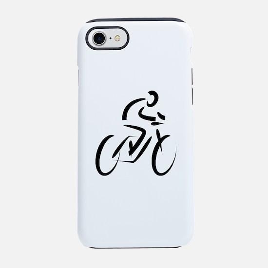 Cool Modern Cyclist iPhone 8/7 Tough Case