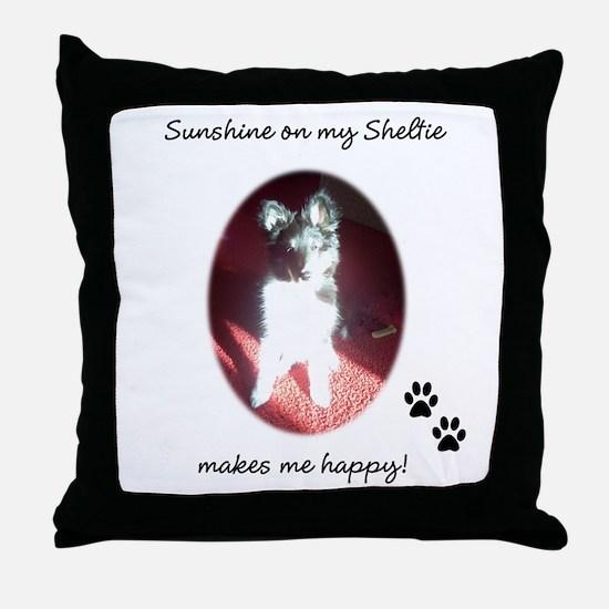 Sunshine Sheltie Throw Pillow