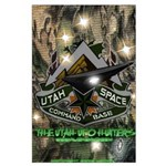 """Utah Space Command """"Camo"""" 23x35 Large Poster"""