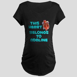 This Heart: Adaline (B) Maternity Dark T-Shirt
