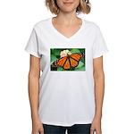Monarch Butterfly Women's V-Neck T-Shirt