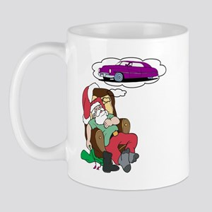 Santa Dreams Of A Lead Sled Mug