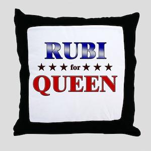 RUBI for queen Throw Pillow