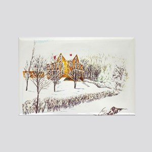The Old Farm House Rectangle Magnet