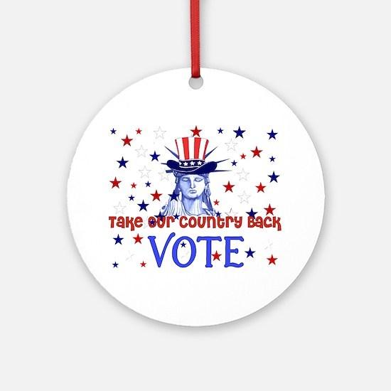 Vote Election 2008 Ornament (Round)